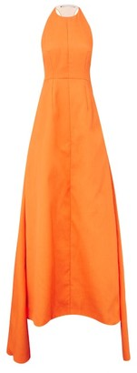 Emilia Wickstead Helosie Racerback Cloque Gown - Womens - Orange