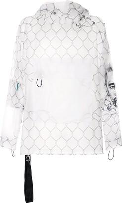 Off-White Pocket-Detail Transparent Jacket