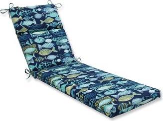 Highland Dunes Earles Beach Indoor/Outdoor Chaise Lounge Cushion Fabric: Lagoon