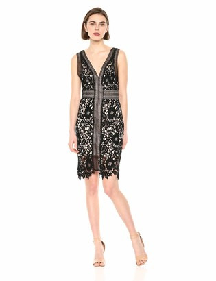 ASTR the Label Women's Sleeveless LACE Short Cocktail Dress