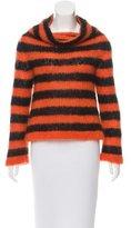 Alexander McQueen Striped Turtleneck Sweater