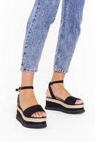 Nasty Gal Womens What Goes Up Platform Sandal - Black - 7, Black