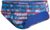 Speedo Champs & Stripes Printed Brief Swimsuit 8136817