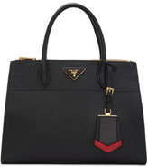 Prada Black and Red Medium Galleria Tote