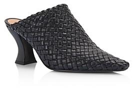 Bottega Veneta Bottena Veneta Women's Woven Leather High-Heel Mules