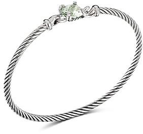 David Yurman Chatelaine Bracelet with Prasiolite and Diamonds