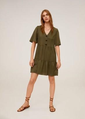 MANGO Lyocell short dress khaki - 2 - Women