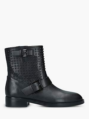 Michael Kors MICHAEL Reeves Studded Leather Ankle Boots, Black