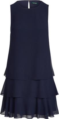 Ralph Lauren Georgette Shift Dress