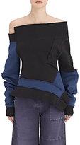 Burberry X Barneys New York Women's Sculptured-Sleeve Cotton-Blend Sweatshirt