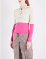 Natasha Zinko Funnel neck knitted top