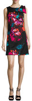 Trina Turk Hanai Sleeveless Floral Stretch Jersey Dress, Black