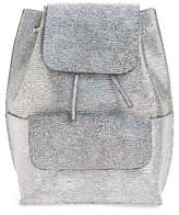 Street Level Flap Pocket Backpack - Metallic