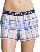 U.S. Polo Assn. Blue Plaid Lounge Shorts