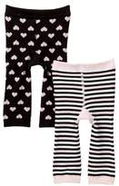 Cuddl Duds Hearts & Stripes Cuddl Pants - Pack of 2 (Baby Girls)