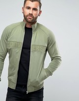 Converse Mesh Rib Track Jacket In Green 10003432-A02