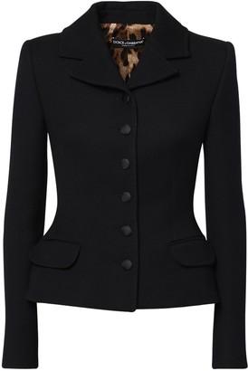 Dolce & Gabbana Wool Crepe One Breast Jacket