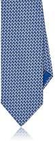 Brioni Men's Geometric-Pattern Silk Necktie