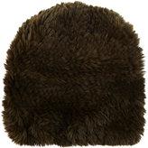 Barneys New York Women's Fur Slouchy Beanie-GREEN