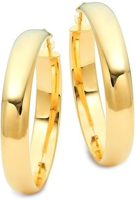 Saks Fifth Avenue Made In Italy 14K Yellow Gold Wide Hoop Earrings