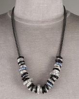 Giles, Mon Amour Glass & Rhinestone Necklace