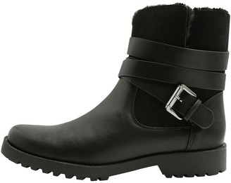 M&Co Atherton fur lined biker boot