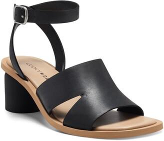 Lucky Brand Pemal Black Heel Sandal