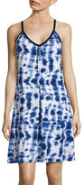 Lori Michaels Abstract Print V-Neck Cover-Up