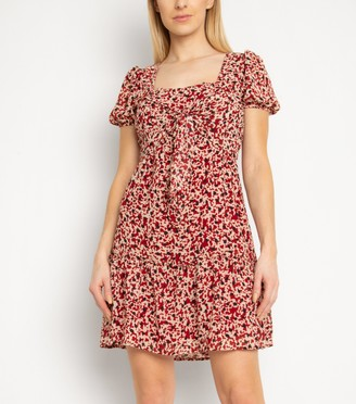 New Look Gini London Rust Spot Square Neck Dress