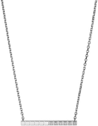 Chopard White Gold and Diamond Ice Cube Pure Necklace