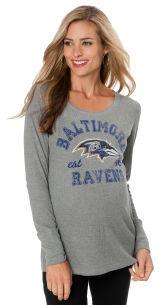 Motherhood Baltimore Ravens NFL Maternity T Shirt