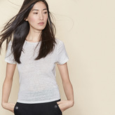 Maje Linen T-shirt tied at the waist