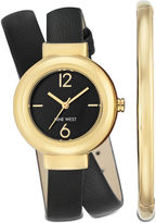Nine West Kiersties Double Wrap Watch and Bracelet Set