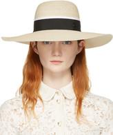 Maison Michel Beige Straw Blanche Beach Hat