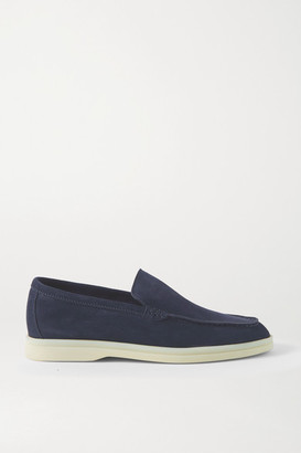 Loro Piana Summer Walk Suede Loafers - Navy