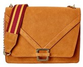 Sam Edelman Madeline Accordion Suede Shoulder Bag.