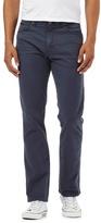 Wrangler Navy Textured Line Trousers