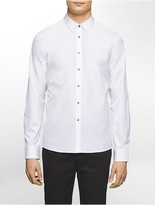 Calvin Klein Platinum Skinny Fit Chrome Snap-Button Shirt