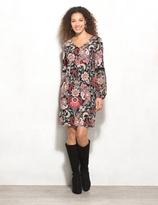 dressbarn Floral Chiffon-Sleeve Knit Dress