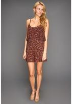 Roxy Floral Splash Cover-up Dress (True Black) - Apparel