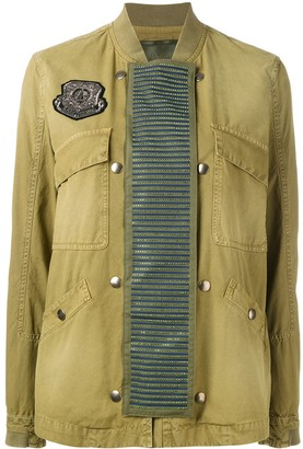 Mr & Mrs Italy Embellished Panel Bomber Jacket