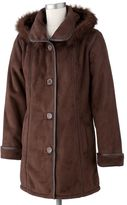 ExcelledHooded Faux-Suede Jacket