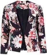 Black Floral Blazer Jacket