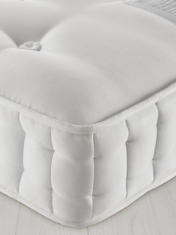 John Lewis & Partners Natural Collection Fleece Wool 8400, Double, Medium Tension Pocket Spring Mattress