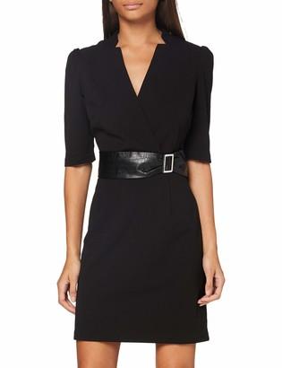 Morgan Women's Robe Manches Longues Portefeuille Ceinturee Rimiko Business Casual Dress