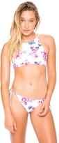 Frankie's Bikinis Marley Bottom in Floral Stripe