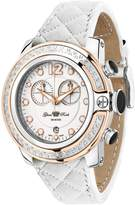 Glam Rock Women's GR32132D SoBe Chronograph Diamond Accented Dial Quilted Leather Watch