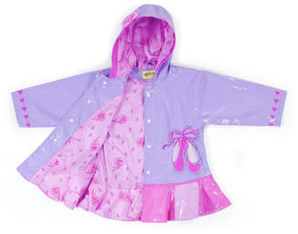 Kidorable Little and Big Girl with Comfy Polyester Lining Ballet Raincoat
