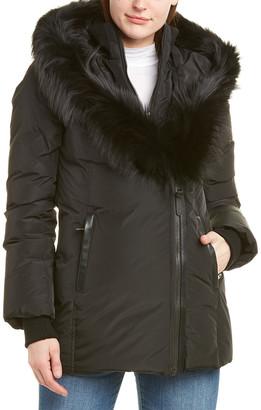 Mackage Adali Leather-Trim Down Coat