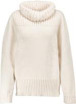 Stella McCartney Oversized open-knit wool-blend turtleneck sweater